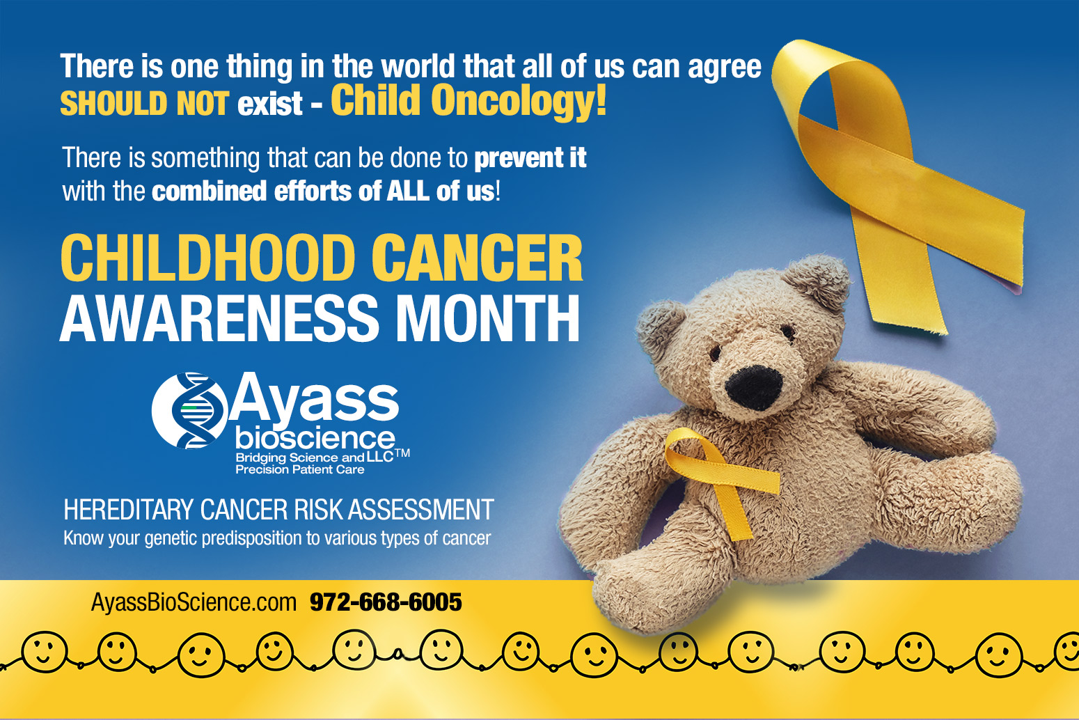 September – Childhood Cancer Awareness Month